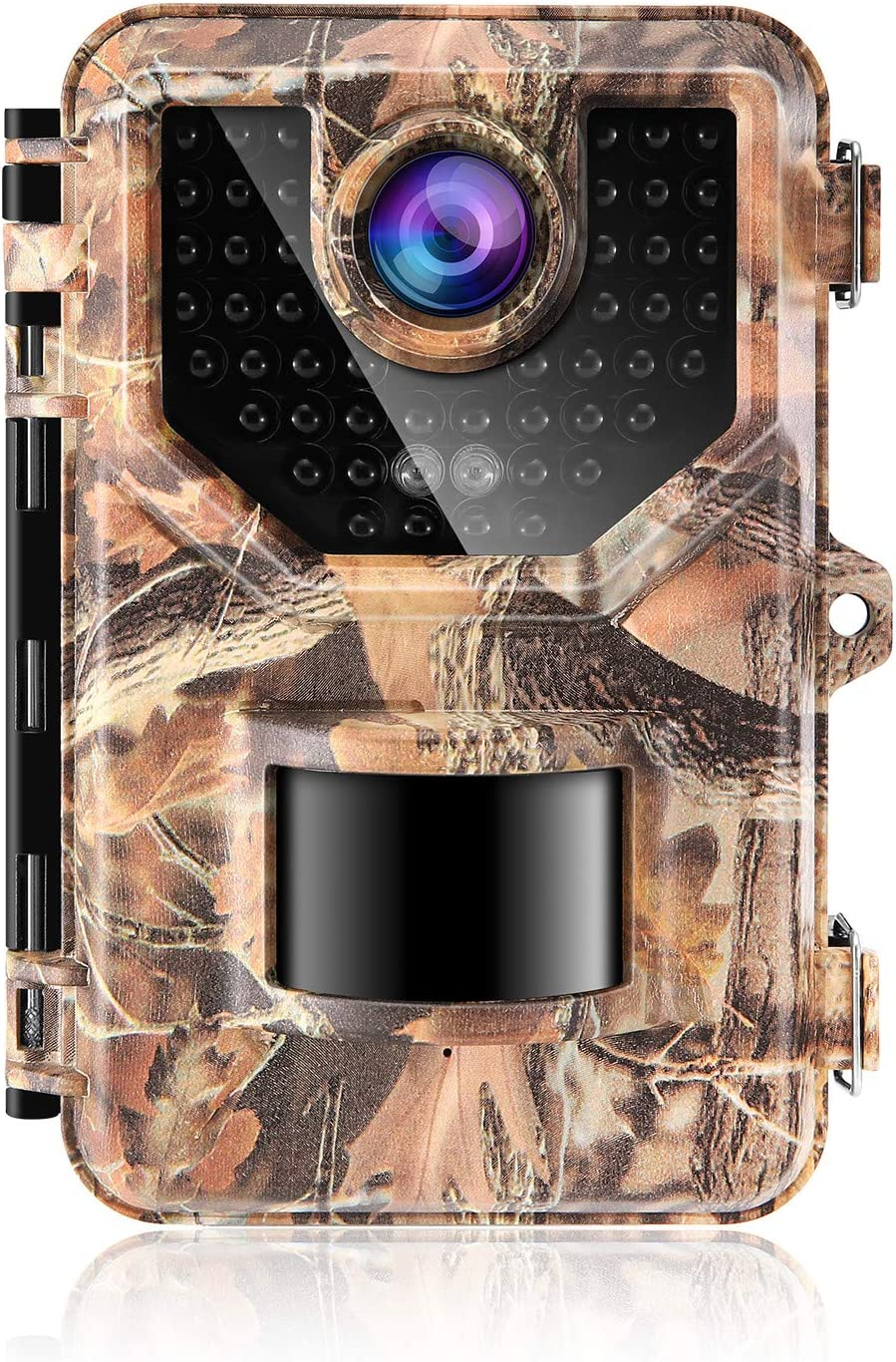 Sesern Trail Camera 16MP 1080P, IP66 Waterproof Game Cam with 940nm No Glow IR Night Vision to 65ft, 2.4 inches Color Screen, 0.2 Trigger Time Motion Activated, 120 Detection Range, Autumn Yellow