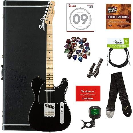 Fender Player paquete de guitarra con estuche rígido: Amazon.es ...