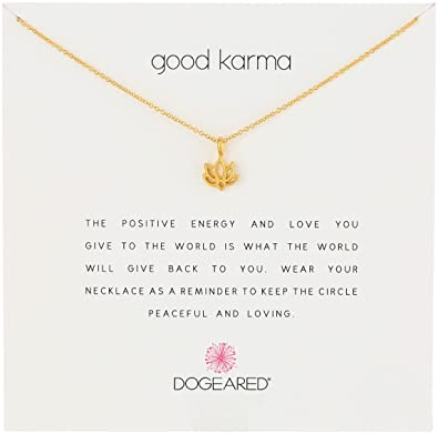 Amazoncom Dogeared Reminders Good Karma Gold Dipped Lotus Charm