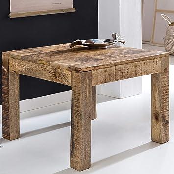 Finebuy Couchtisch Rusti Massiv Holz 60 X 60 X 47 Cm Beistelltisch