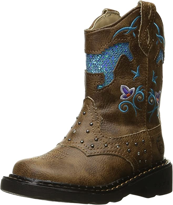 f4030021f95 Horse Flowers Western Boot (Toddler/Little Kid)