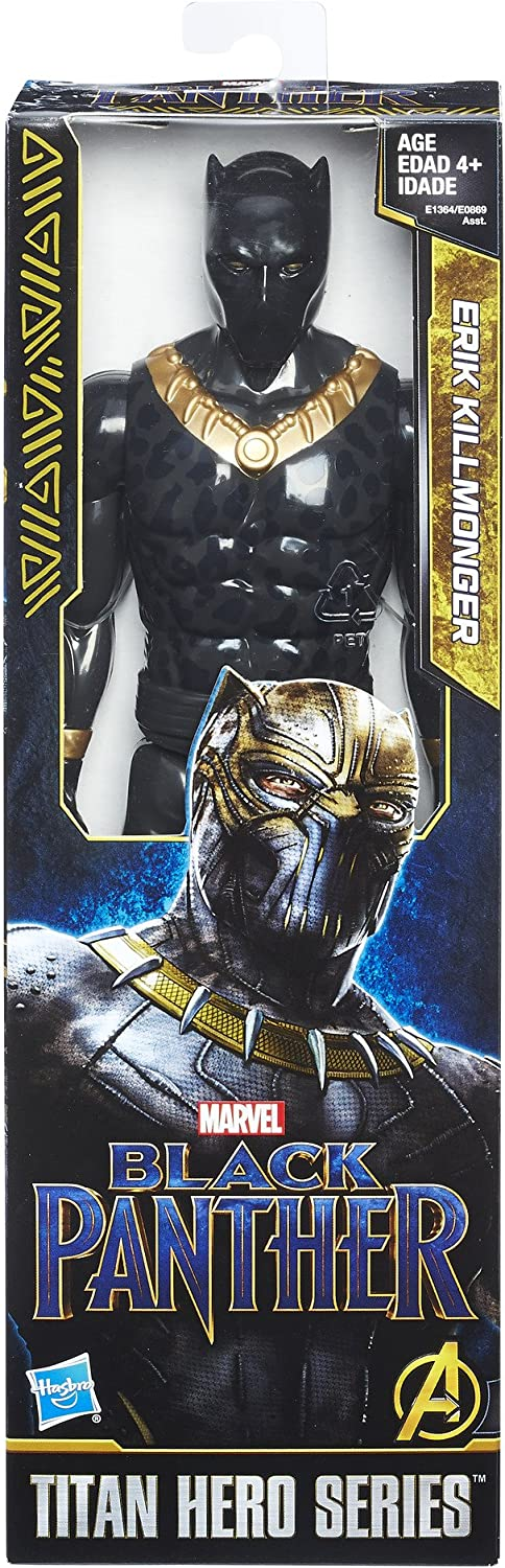 "Marvel BLACK Panther Titan Hero Series 12/"" Erik Killmonger Toys /& Games"