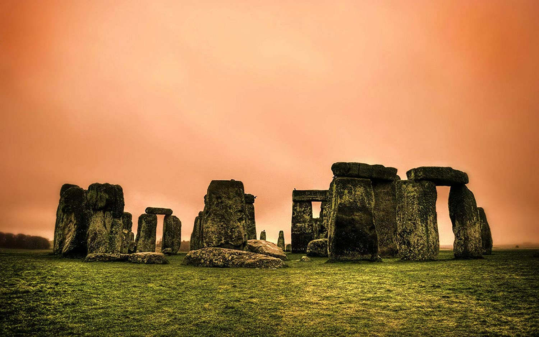 Metal Sign England's Stonehenge Tin Metal Plaque Wall Decor 12x8 Inches