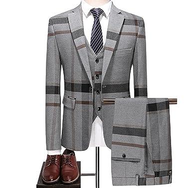 1a1125c3047b0 チェック柄スーツ メンズ おおきいサイズ ツイードジャケット メンズ チェックスリーピーススーツ メンズ ブラック 結婚式