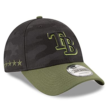 new style b7632 bb468 Image Unavailable. Image not available for. Color  New Era Authentic Tampa  Bay Rays Memorial Day 9Forty Adjustable Hat ...