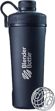 BlenderBottle Radian de acero inoxidable | Botella de agua | Botella mezcladora de batidos de proteínas | con batidor Blenderball | libre de BPA | ...