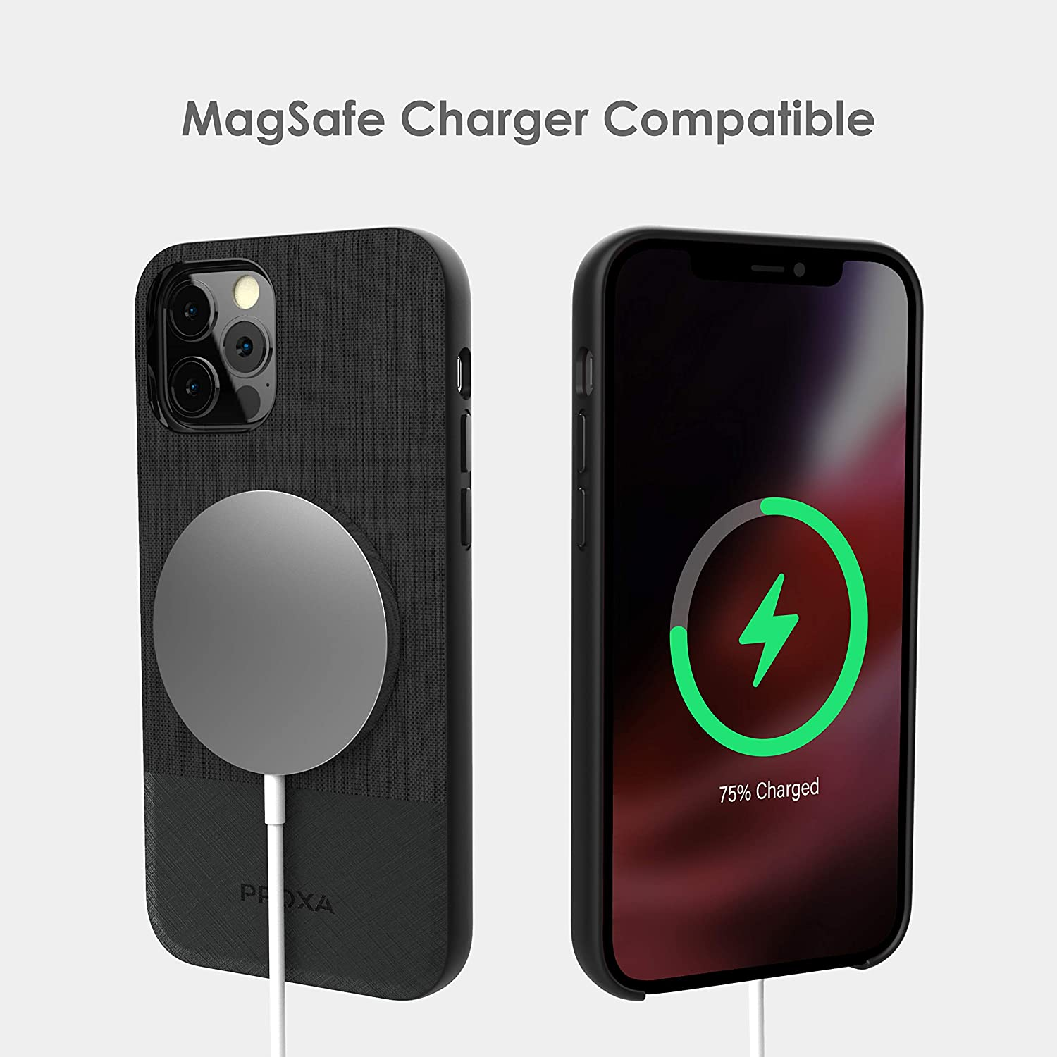 MagSafe Compatible /&Dual Installation Mount/&Dual Port QC 3.0 Car Adapter-Compatible with iPhone 12 Pro Max PROXA Magnetic Wireless Car Charger with 6.7 inch Case Designed for iPhone 12 Pro Max