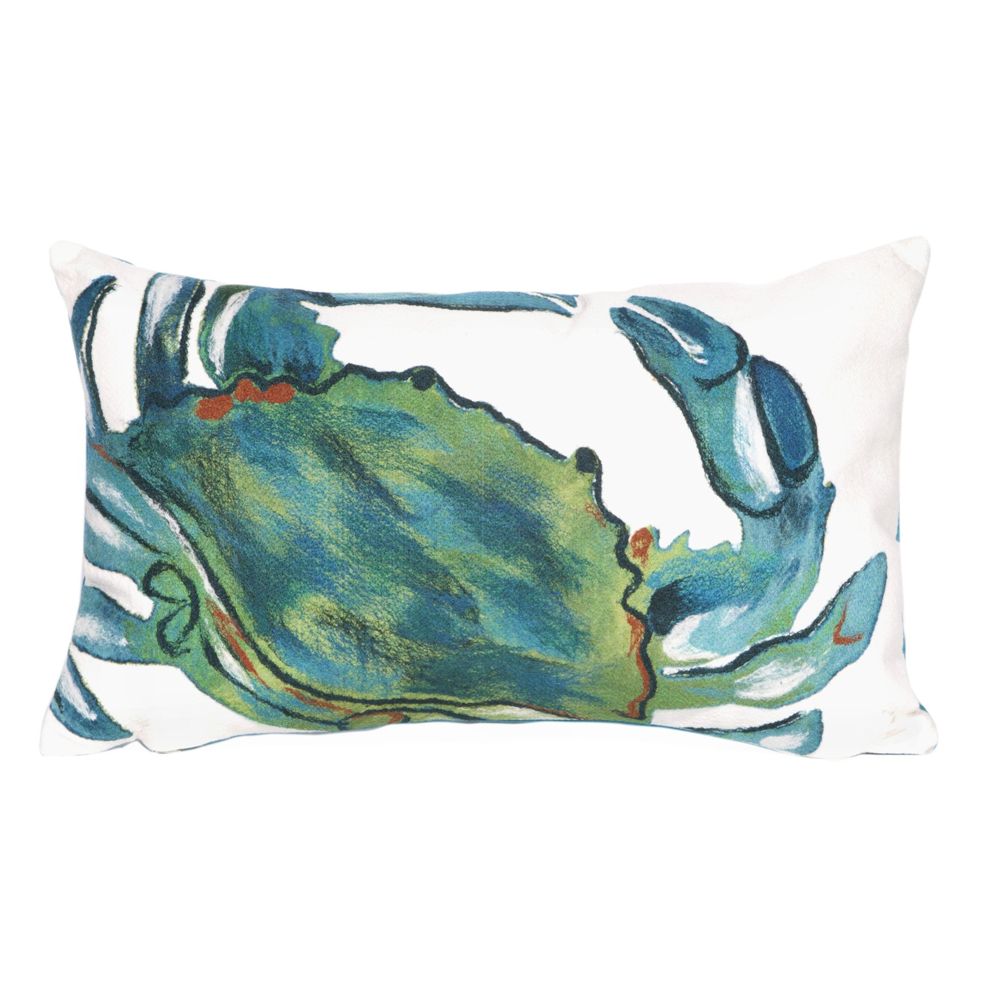 Liora Manne 7S01SA39403 Mystic III Sand Crawler Sea Indoor/Outdoor Pillow