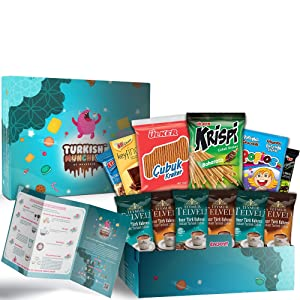 Turkish Delights, Coffee and Premium International Snacks Variety Pack Care Package, Ultimate Assortment of Turkish Treats, Mix variety pack of snacks, Best Foreign Candy or Foreign Snacks Box