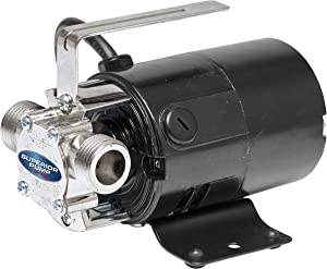 Superior Pump 90040 115 Volt Transfer Pump with 6-Foot Suction Hose, Black