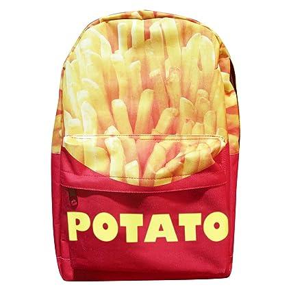Amazon.com: 3d Photo Print Mochila Bookbag Bolsa (patatas ...