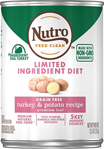 NUTRO Limited Ingredient Diet Adult Natural Wet Dog Food, 12.5oz Can 12 Pack
