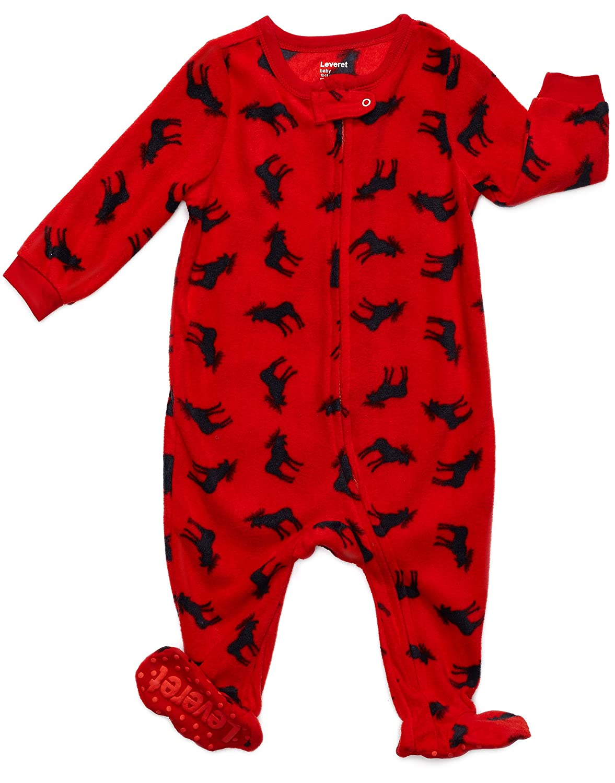 Leveret Fleece Baby Boys Girls Footed Pajamas Sleeper Kids   Toddler ... fd718414d