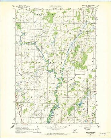 Princeton Minnesota Map.Amazon Com Minnesota Maps 1968 Princeton Mn Usgs Historical