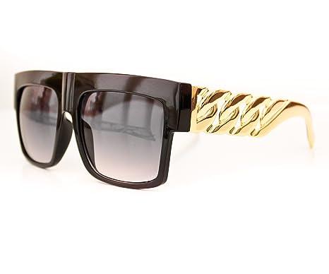 1504e0a8e830 New Mens Womens Celine Style Gold Metal Chain Arms Retro Vintage Designer  Hip Hop Flat Top