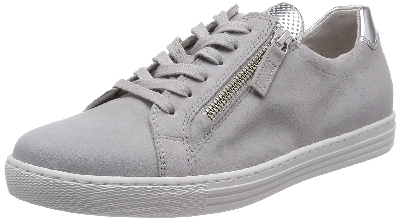 Gabor Shoes Comfort Basic, Zapatos de Cordones Derby para Mujer 36 EU|Gris (Light Grey/Argento)