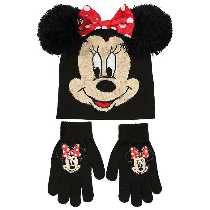 Disney - Gorro y guantes para niñas de Minnie Mouse 5512f4376b6