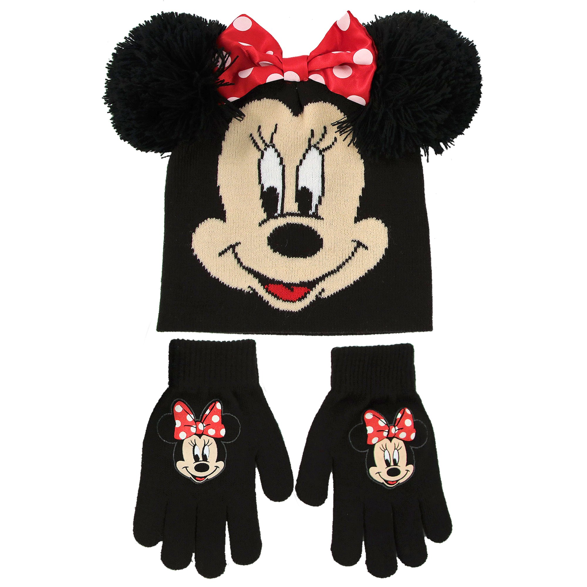 e86ee257ff1 Galleon - Disney Little Toddler Girls Minnie Mouse Beanie Hat And Gloves  Set