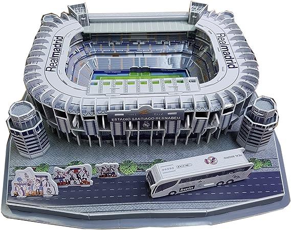 Puzzle 3D del estadio Santiago Bernabeu del: Amazon.es: Juguetes y juegos