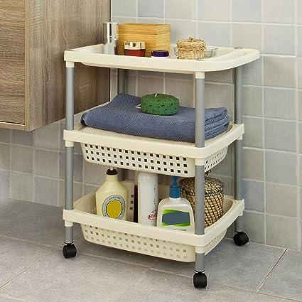 SoBuy® baño estante, carrito, almacenamiento carro, técnicos carro, carrito de cocina