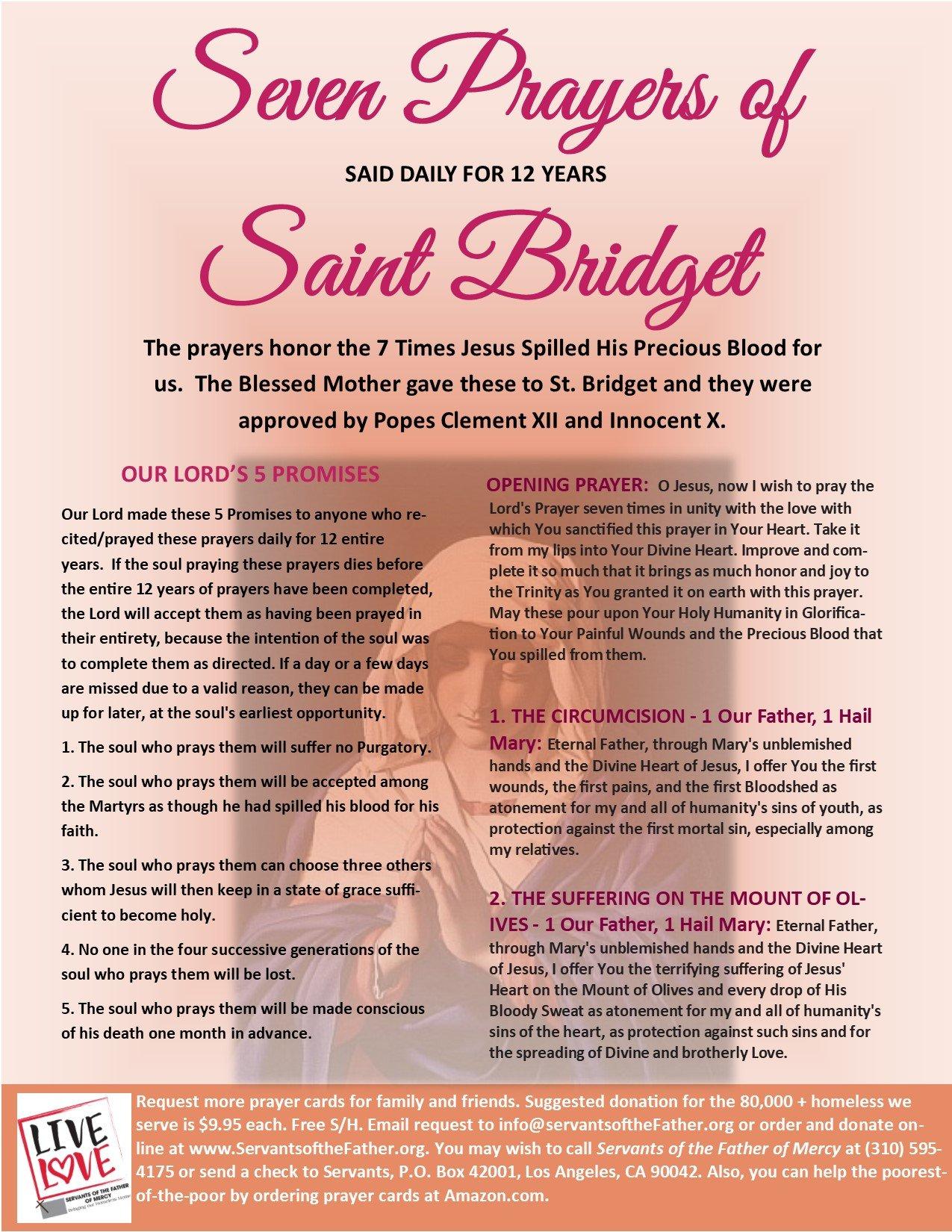 Brigid prayer saint Brighid Invocation