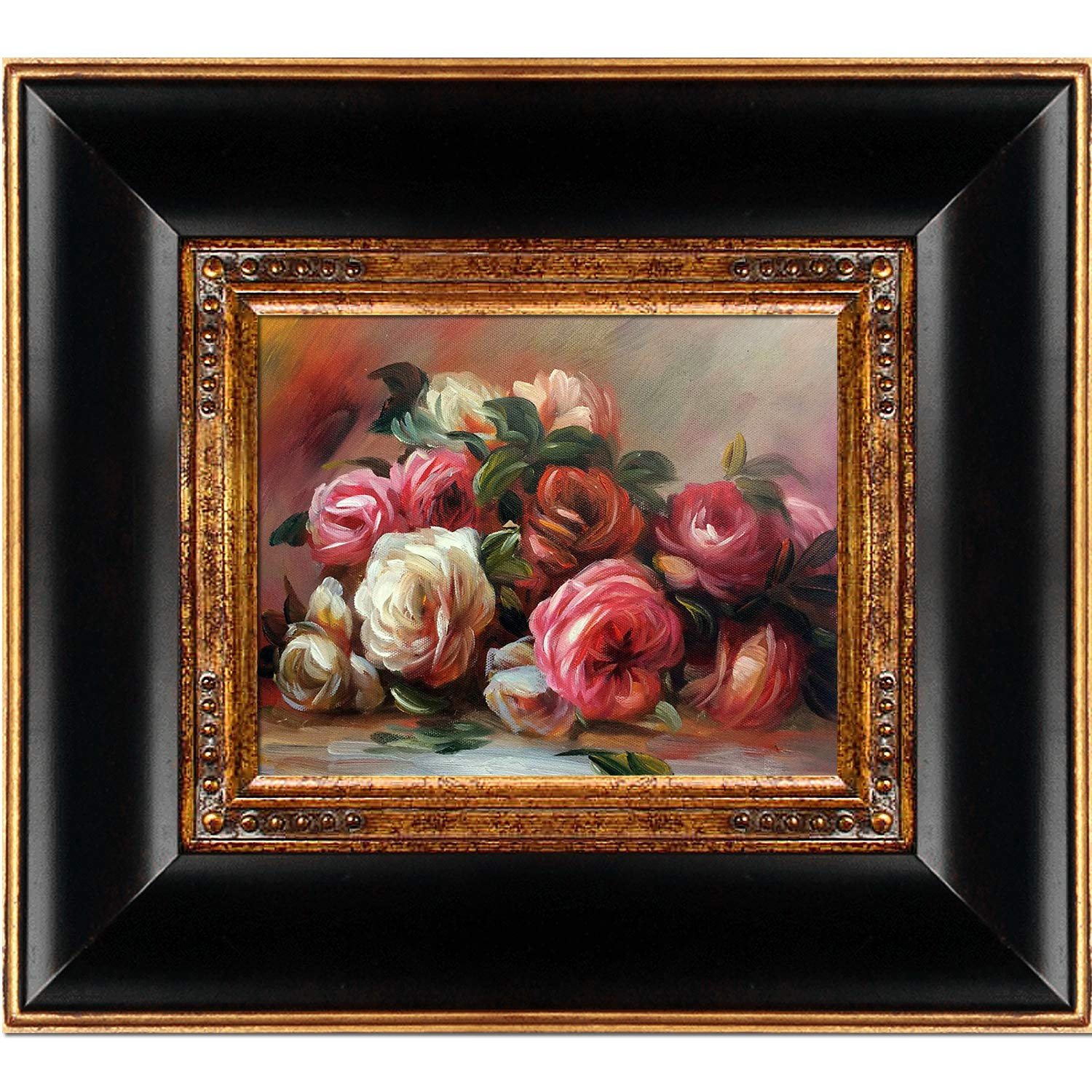 overstockArt Discarded Roses By Pierre-Auguste Renoir Framed Hand Painted Oil On Canvas with Opulent Frame B01I3D0P1O