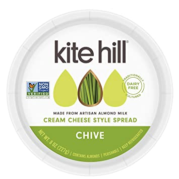 Kite Hill Chive Cream Cheese Style Spread, 8 oz