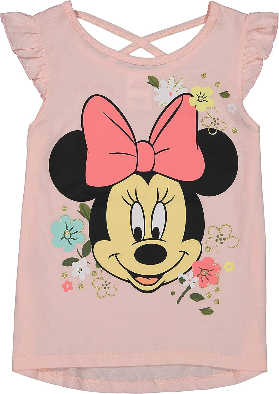 Disney Minnie Mouse Girls 4 Piece Mix N Match T-Shirt Shorts /& Leggings Set