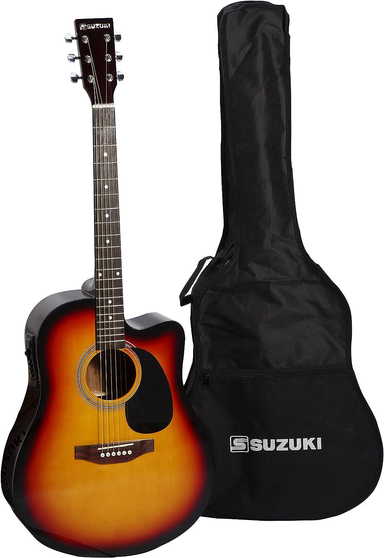 Suzuki sdg2-cesb guitarra Electro acústica Negro: Amazon.es ...