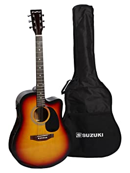 Suzuki sdg2-cesb guitarra Electro acústica Negro