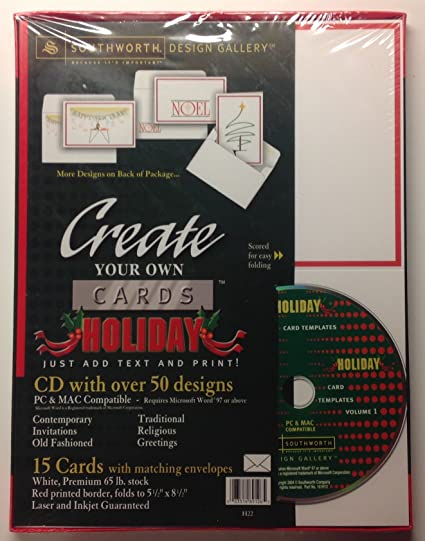 amazon com create your own holiday greeting cards stationary cd