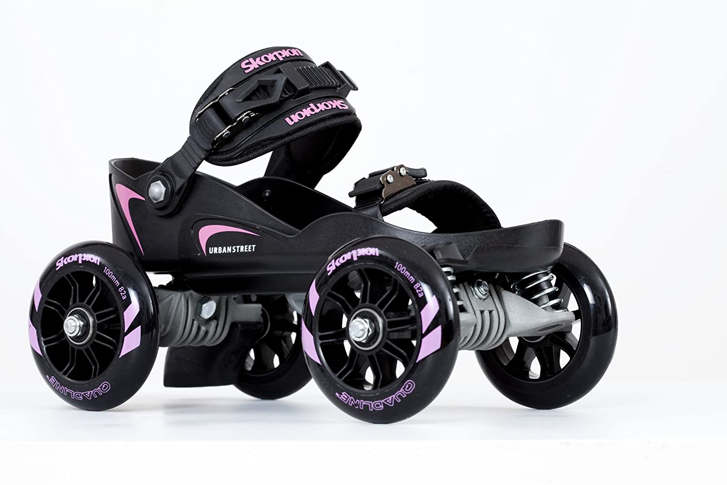 Amazon.com : Skorpion Quadline® Street Skates - Large Pink / Black : Childrens Inline Skates : Sports & Outdoors