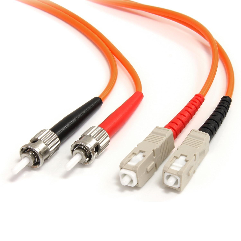 StarTech.com 3m Fiber Optic Cable - Multimode Duplex 62.5/125 - LSZH - ST/SC - OM1 - ST to SC Fiber Patch Cable FIBSTSC3 Network Cables