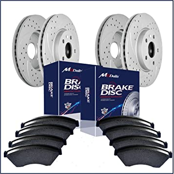 2005 2006 For Chevrolet Silverado 1500 Drilled Slotted Rear Rotors and Pads