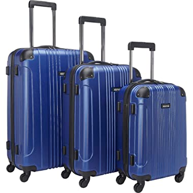 Kenneth Cole Reaction Out Of Bounds 4-Wheel Hardside 3-Piece Luggage Set: 20  Carry-on, 24 , 28 , Cobalt Blue