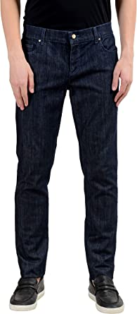 Amazon Com Versace Jeans Us 30 It 46 Pantalones Vaqueros Para Hombre Color Azul Clothing