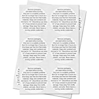 Candle Warning Stickers Jar Container Labels (White Black/1.5) - 300 Labels per Package