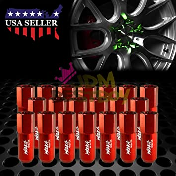 20 Black//Orange Spiked Aluminum Extended Tuner Lug Nuts For Wheels//Rim M12x1.5