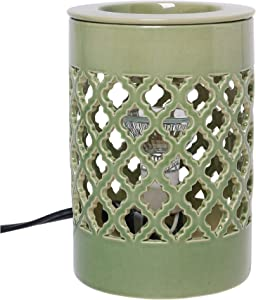 Hosley Ceramic Electric Candle Warmer for Cube Wax Tart Wax Fragrance Oil Ideal for Spa and Aromatherapy Use Brand Wax Melts and Cubes Essential Oils and Fragrance Oils O4
