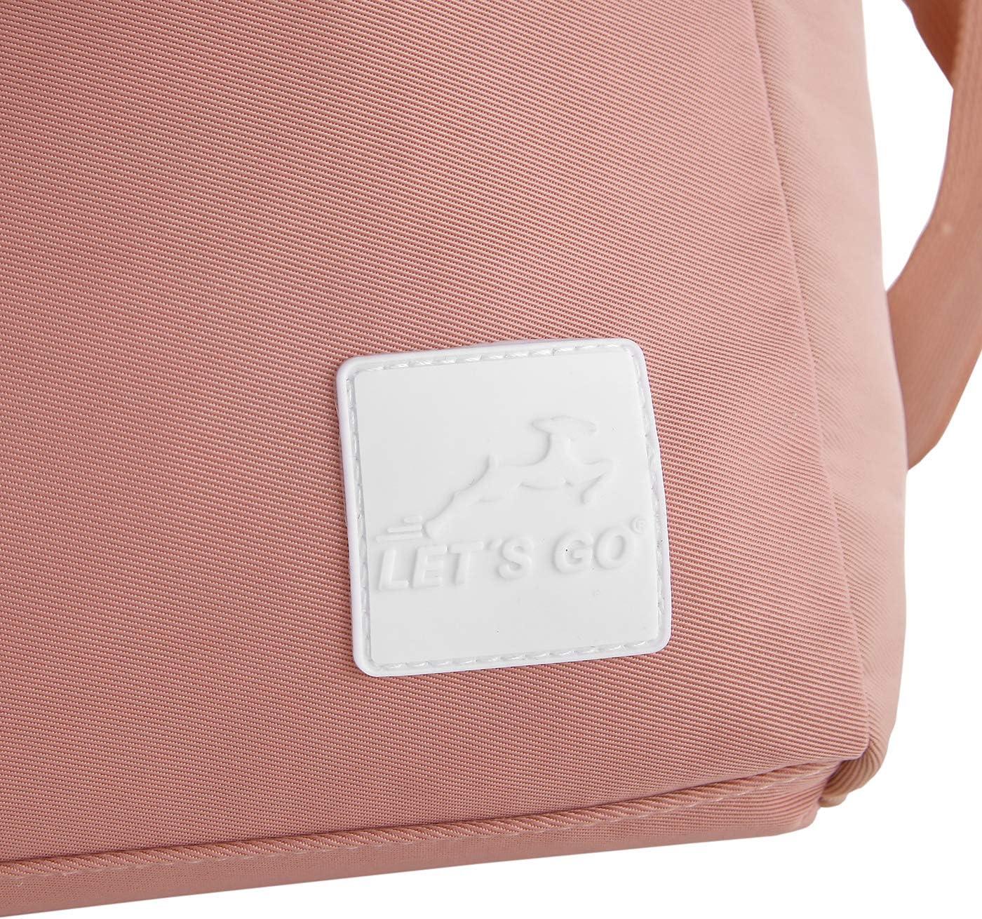 beige Lets Go moderner Weekender Dorethe Unisex XL-Shopper mit Umh/ängeriemen aus robustem Polyester 48 x 32,5 x 16 cm