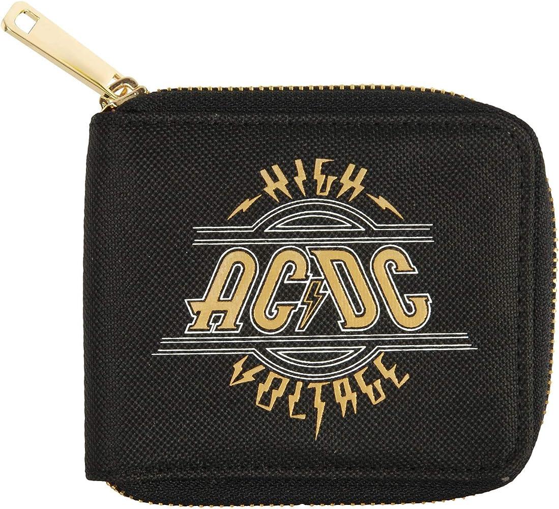 AC//DC Women/'s Black PU Leather Wallet Girls Wallet Black