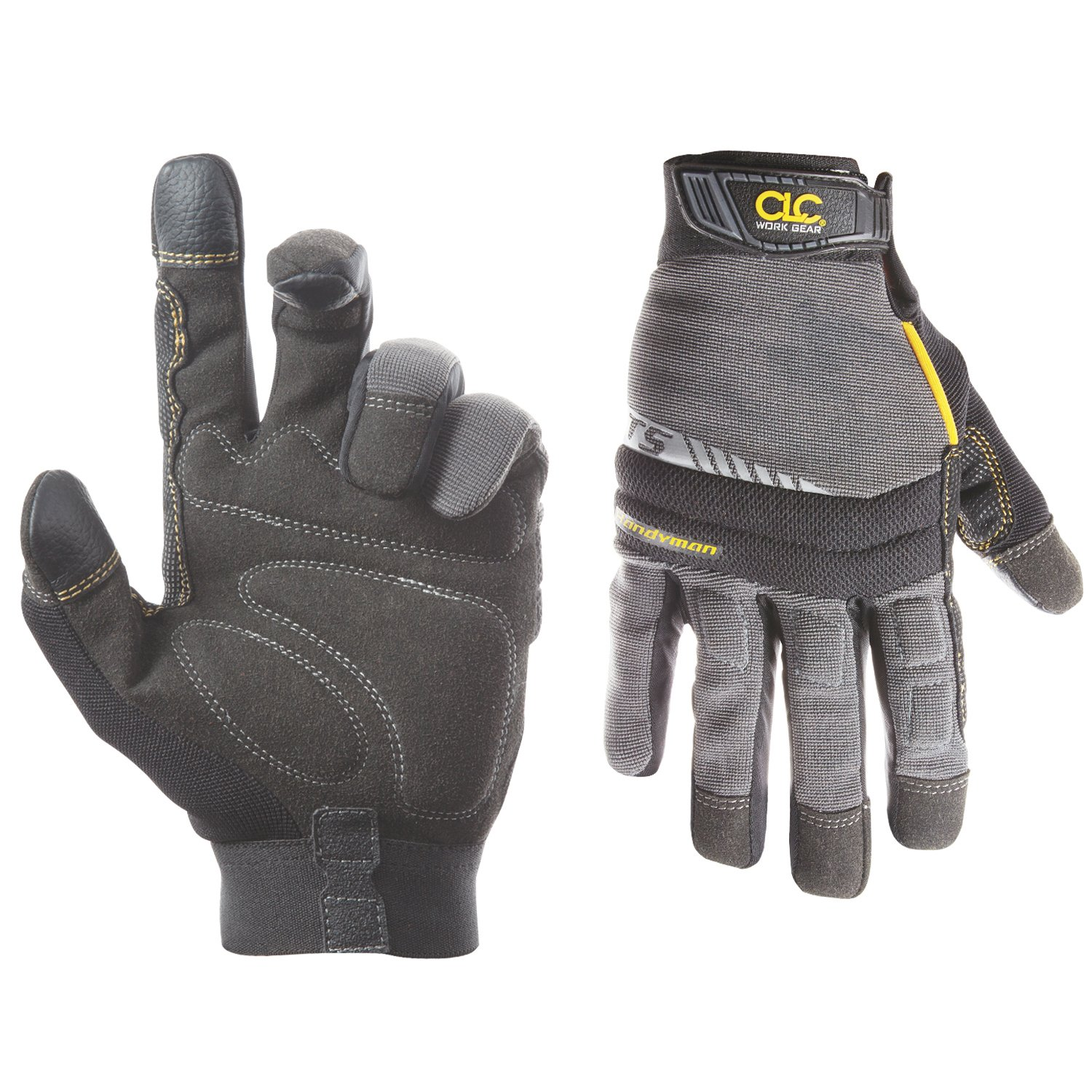 CLC Custom Leathercraft 125L Handyman Flex Grip Work Gloves, Shrink Resistant, Improved Dexterity, Tough, Stretchable, Excellent Grip by Custom Leathercraft