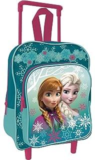 Arditex WD11404 - Mochila Trolley Con Carro Frozen 30 CM Cartera Elsa Y Ana