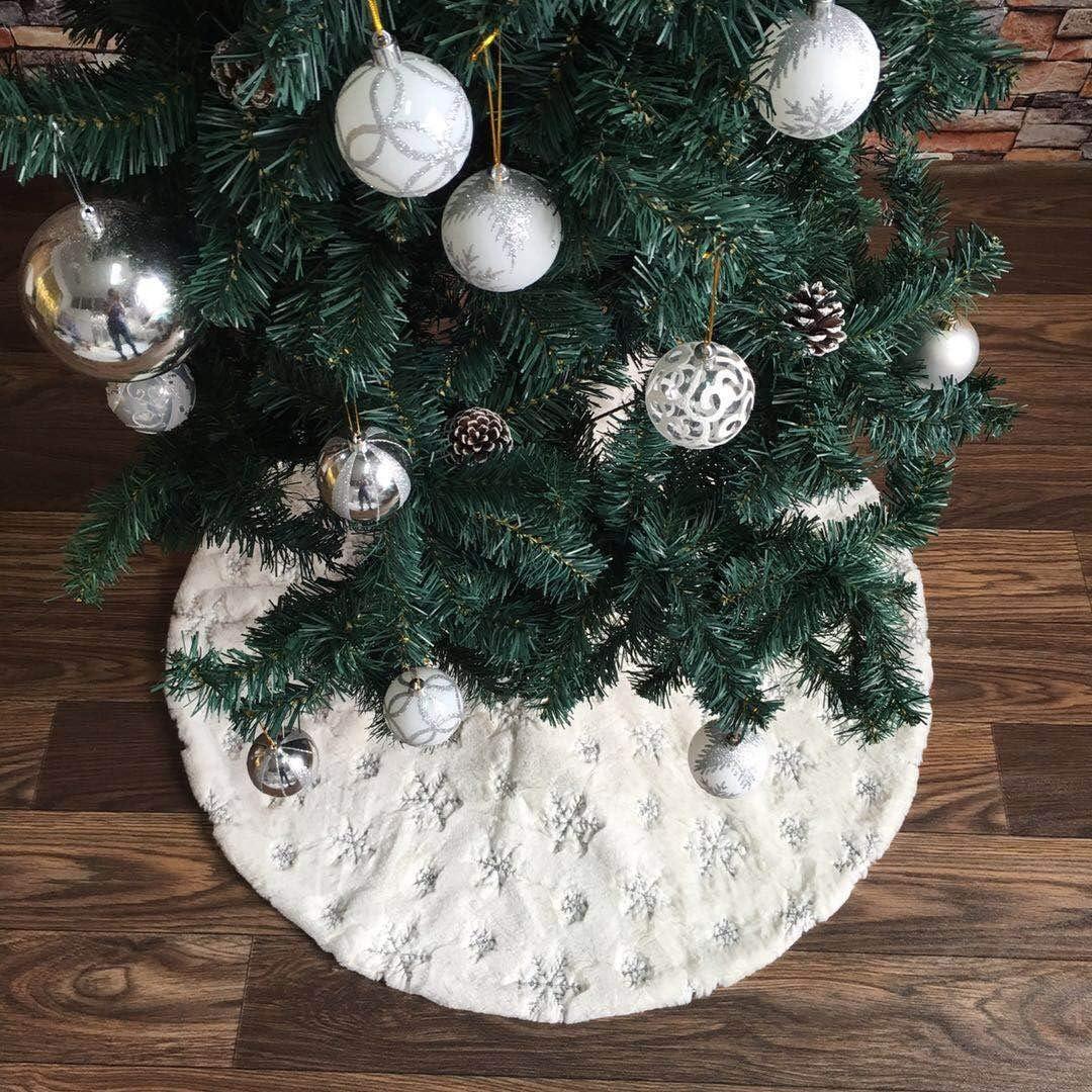 wide smile Falda para árbol de Navidad de 90 cm, diseño de Copo de ...