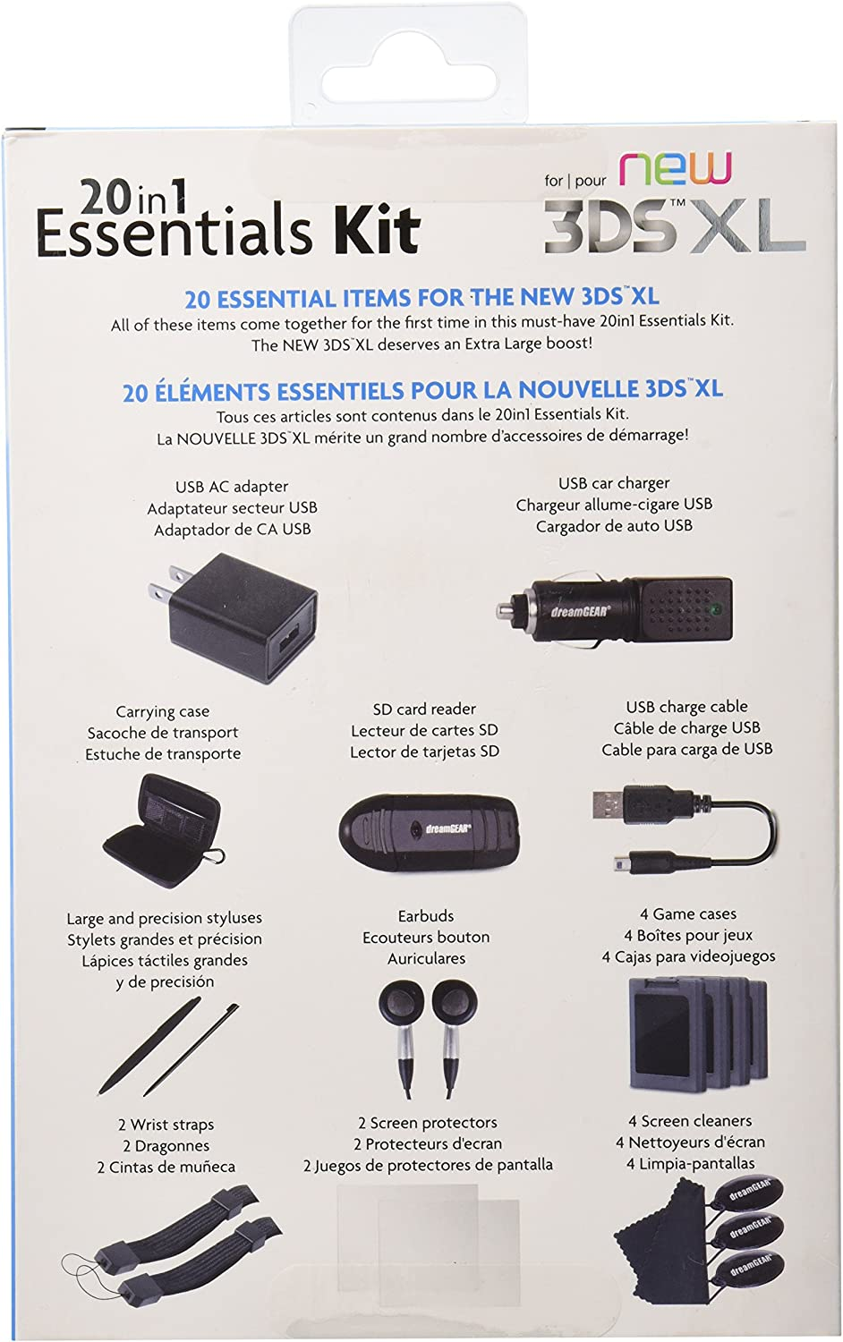 Amazon.com: dreamGEAR – 20 in 1 Essentials Kit for the New ...