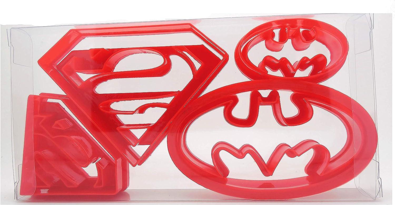 4 pcs Super Hero Batman Superman Cookie Cutters Sugarcraft Cake Decoration UK
