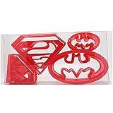 (pezzi) super eroe Superman/Batman set di 4formine per biscotti, per biscotti, pasticceria, biscotti, pasta, in confezione regalo