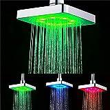 GuDoQi 3 Colores Que Cambian El Cabezal De Ducha Cabezas De Ducha De Lluvia del Baño