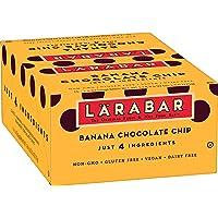 Larabar Gluten Free Bar, Banana Chocolate Chip, 1.6 oz Bars (16 Count), Whole Food Gluten Free Bars, Dairy Free Snacks