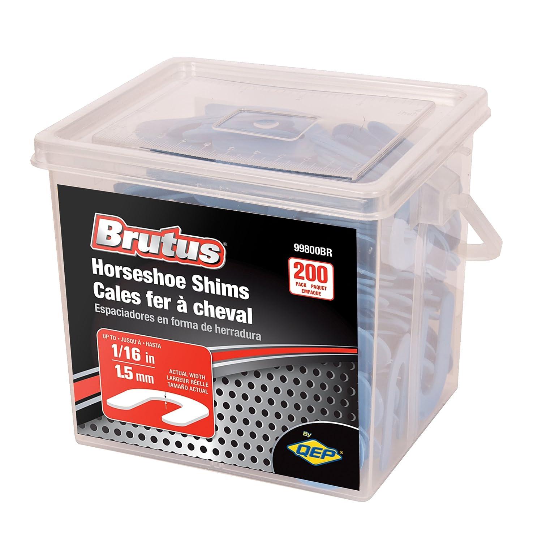 Amazon.com: Brutus 99800BR Horseshoe Shim Tile Spacers, 1/16-Inch ...